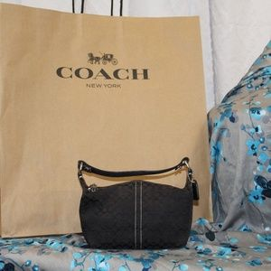 Coach Black Canvas Logo mini stachel